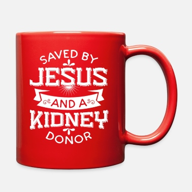 Donor Saved By Jesus And A Kidney Donor - Full Color Mug