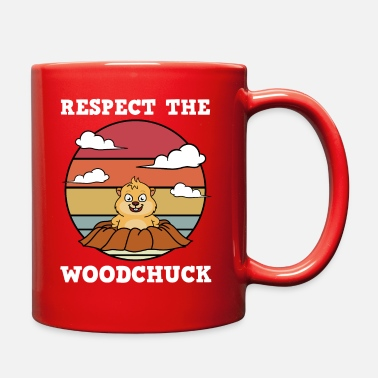 Groundpig Respect The Woodchuck - Full Color Mug
