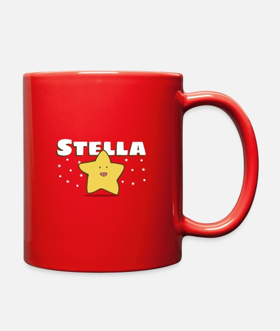 New York Mugs & Cups - Stars - Full Color Mug red