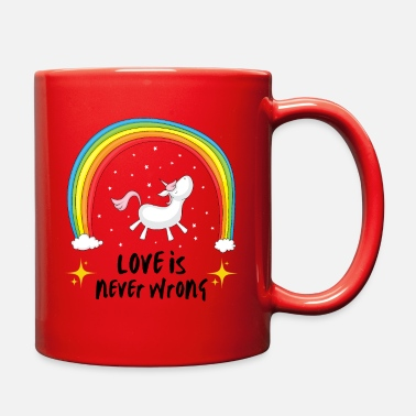 Sex Love is never wrong | LGBTQI+ | QUEER | ALLY - Full Color Mug