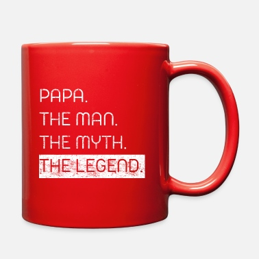 Papa The Man The Myth The Legend PAPA. THE MAN. THE MYTH. THE LEGEND. - Full Color Mug
