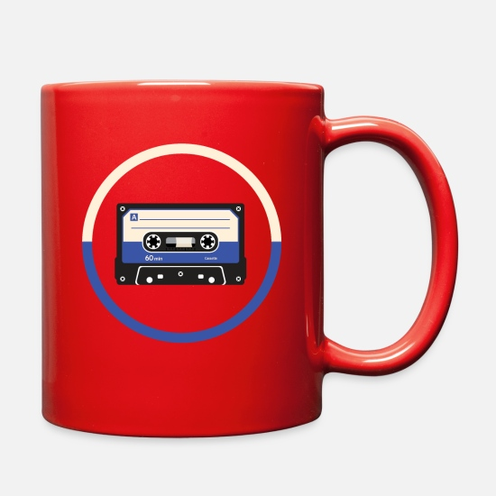 Blue Mugs & Drinkware - tape blue - Full Color Mug red