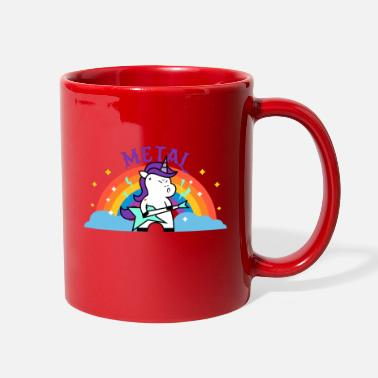 Iron Metal METAL RAINBOW BAND FUNNY UNICORN IRONIC - Full Color Mug
