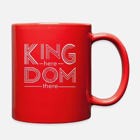 Heaven Mugs & Drinkware - Kingdom here until Kingdom there - Full Color Mug red