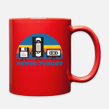 Cassette Never Forget Floppy Disk, VHS and Casette Tape - Full Color Mug