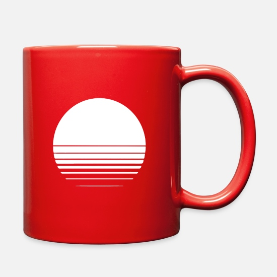 Geometry Mugs & Drinkware - The Geometry of Sunrise - Full Color Mug red
