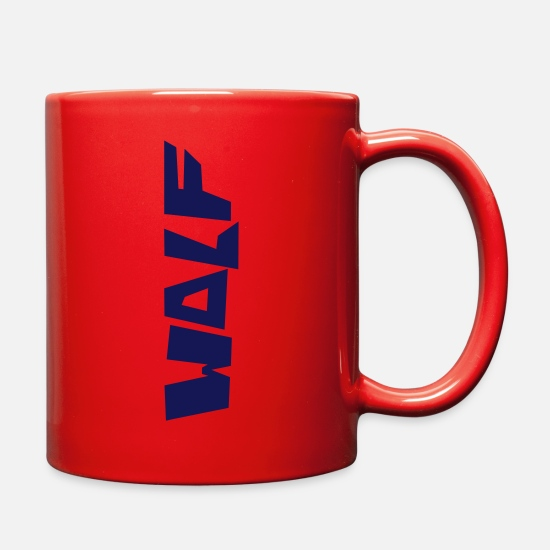 Star Mugs & Drinkware - wolf3 - Full Color Mug red