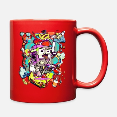Gaming Funny cartoon game graffiti - Full Color Mug