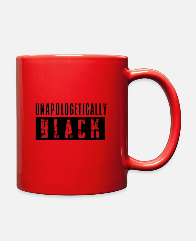 Black Power Mugs & Cups - Unapologetically Black - Full Color Mug red
