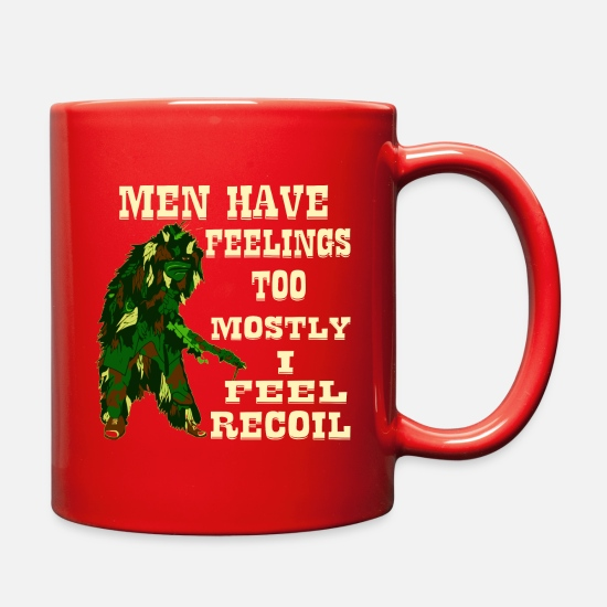 Afghanistan Mugs & Drinkware - Men Have Feelings Too Mostly I Feel Recoil © - Full Color Mug red