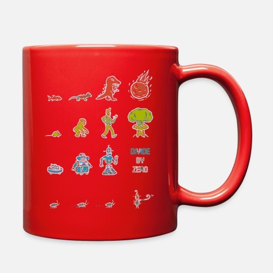 Natural Mugs & Drinkware - How Natural Selection Works - Full Color Mug red