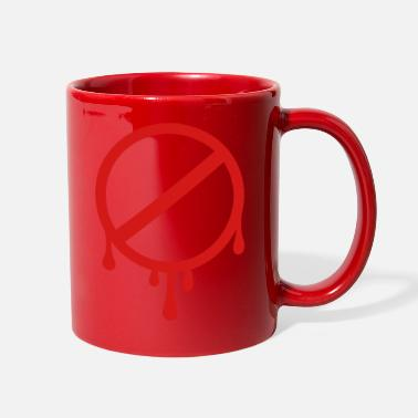 Prohibited prohibition sign - forbidden - Full Color Mug