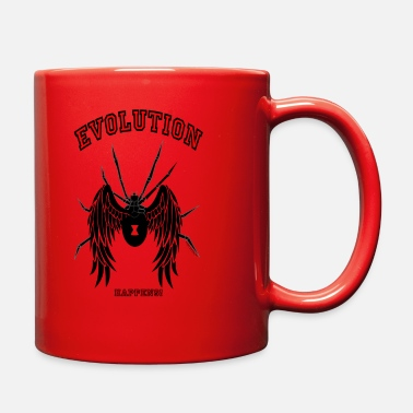 Kricket Kountry Flying SPIDERS: Evolution happens! - Full Color Mug