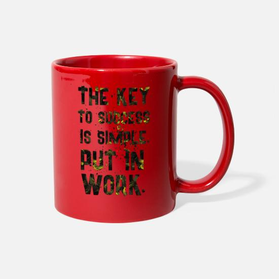 Birthday Mugs & Drinkware - THE KEY - Full Color Mug red