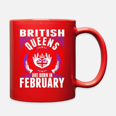 British Queens Are Born In February - Full Color Mug