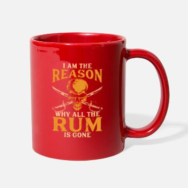 Mummy Pirate skull rum party dad sabre warship red gift - Full Color Mug