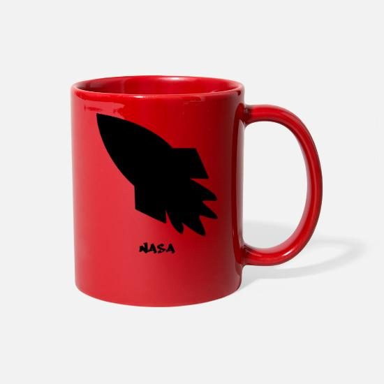 Nasa Mugs & Drinkware - NASA - Full Color Mug red