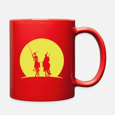 Don Quijote Heroes at Sunset - Full Color Mug
