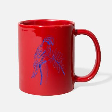 Drawing parrot line drawing - Full Color Mug