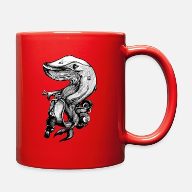 Black Scooter Whale - Full Color Mug
