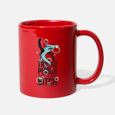 Punch Try to Punch me now Funny hammerhead Shark - Full Color Mug