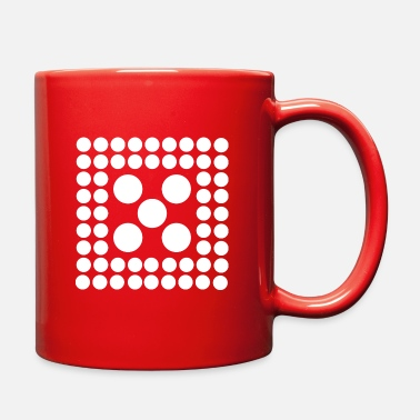 Quadrat Pattern - Shape - Form - Circle - Quadrat - 2 - Full Color Mug