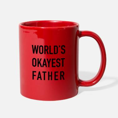 Father And Son Superman World's Okayest Father - Full Color Mug