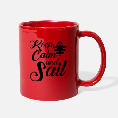 Sail boat Sailing ship crew Captain Sailing Sailor - Full Color Mug