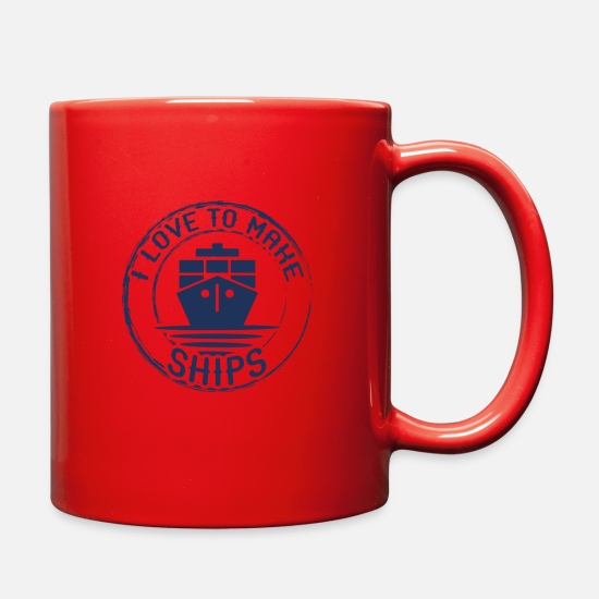 Gift Idea Mugs & Drinkware - Model Building Make Models RC Crafts Model Making - Full Color Mug red
