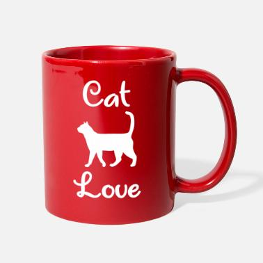 House Tiger Cat Love - Kitten - House Tiger - Full Color Mug