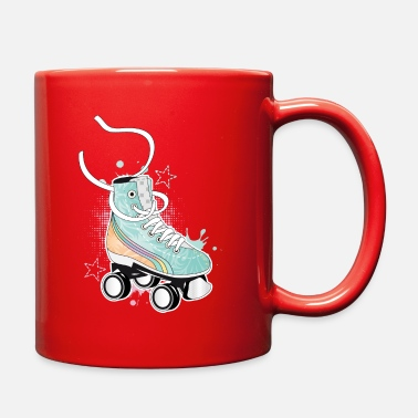 Roller Skates Club Roller skate in retro colors with graffiti & Stars - Full Color Mug
