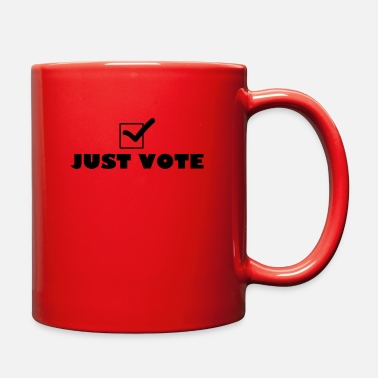 Check Mark Funny T Shirt Just Vote Check Mark Political Tee P - Full Color Mug