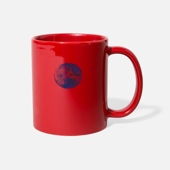 Love You Mugs & Drinkware - to the moon and back - Full Color Mug red