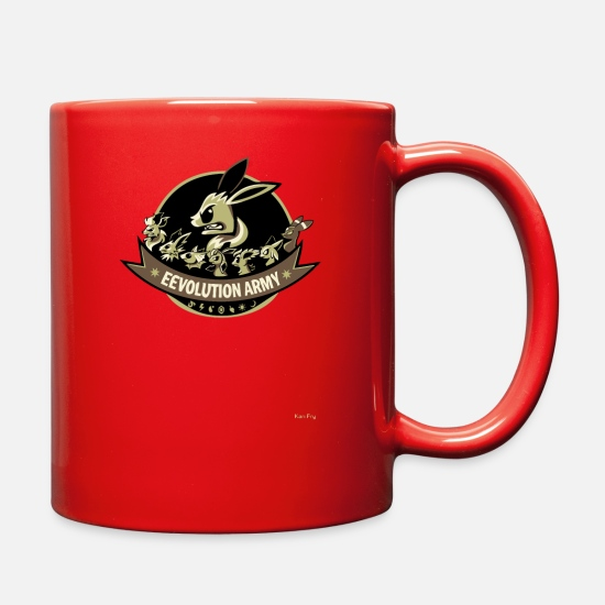 Art Mugs & Drinkware - Eevolution Army - Full Color Mug red