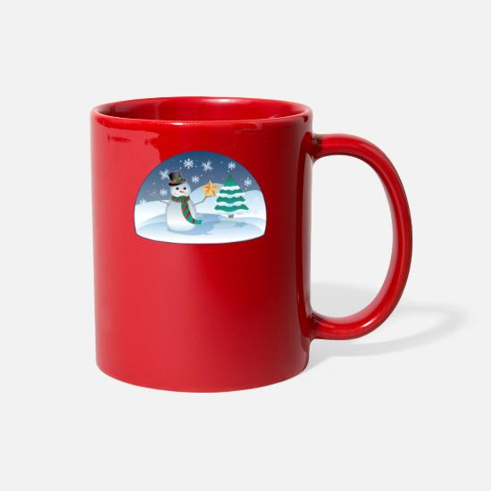 Christmas Carols Mugs & Drinkware - Christmas Scenes - Full Color Mug red