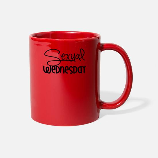 Sexuality Mugs & Drinkware - Sexual Wednesday - Full Color Mug red