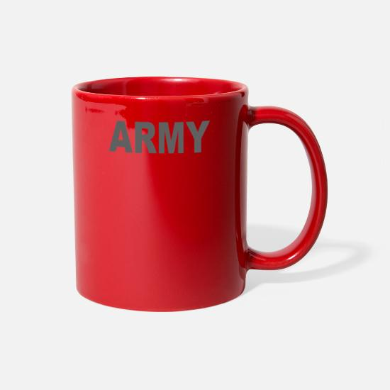 Movie Mugs & Drinkware - ARMY CLASSIC - Full Color Mug red