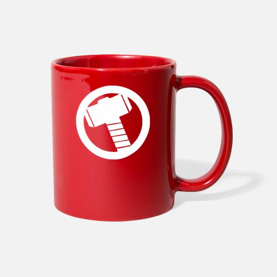 Marvel Mugs & Drinkware - Thor Logo Avengers Marvel - Full Color Mug red