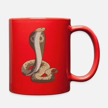 Snake Eyes Real cobra snake reptile venomous snake - Full Color Mug