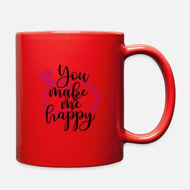 Bachelorette Wedding Present: You make me happy - Full Color Mug