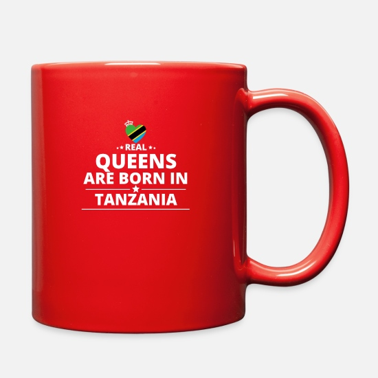 Tanzania Mugs & Drinkware - queens from geschenk i love TANZANIA - Full Color Mug red