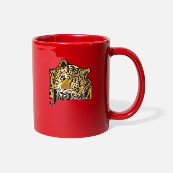Nature Mugs & Drinkware - Jaguar_Leopard - Full Color Mug red