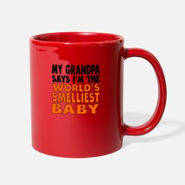 Baby Sayings My Grandpa Says I'm The World's Smelliest Baby - Full Color Mug
