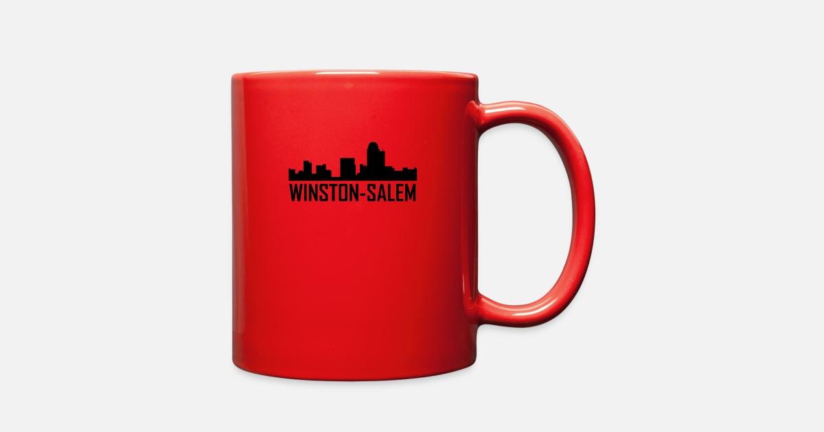Winston-Salem North Carolina City Skyline Full Color Mug | Spreadshirt