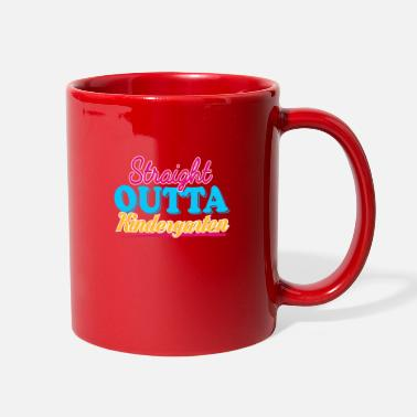 First Day Of School STRAIGHT OUTTA KINDERGARTEN - GIRLS - Full Color Mug