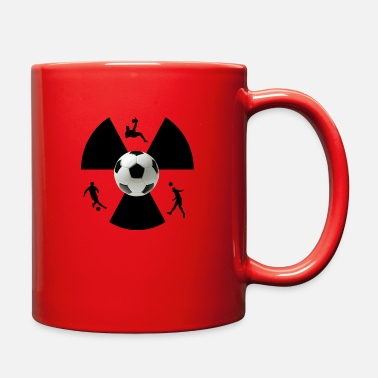 new sporty soccer jersey playing design tee shirt - Full Color Mug