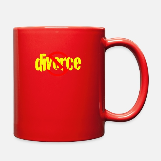Funny Mugs & Drinkware - Divorce - Full Color Mug red
