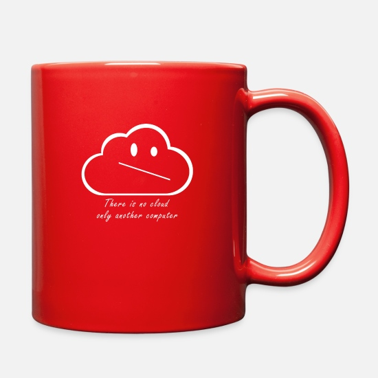 Computing Mugs & Drinkware - Nerd Cloud Computer - Full Color Mug red