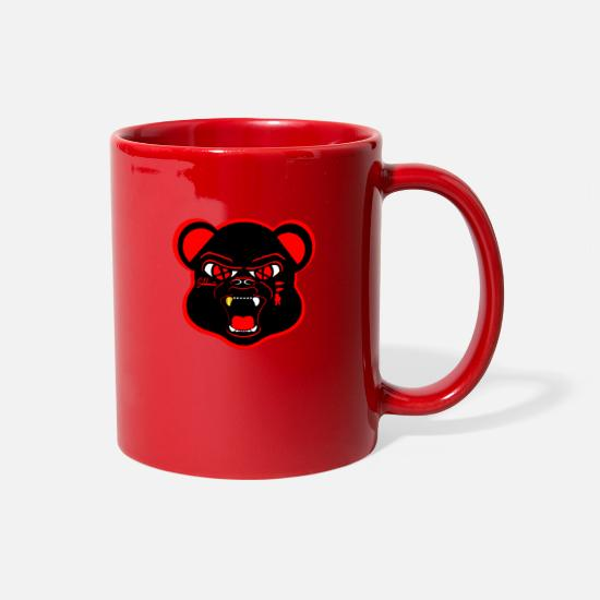 Sneakers Mugs & Drinkware - Solehouette BLK/Red Bear - Full Color Mug red