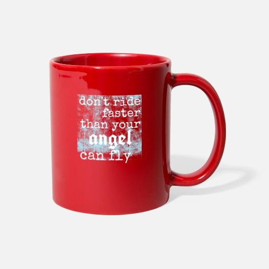 Biker Mugs & Drinkware - biker - Full Color Mug red